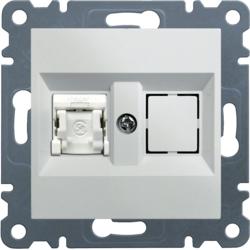 lumina 2 Gniazdo komputerowe pojedyncze RJ45 kat.5e UTP, biały