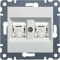 lumina 2 Gniazdo komputerowe podwójne RJ45 kat.5e UTP, biały