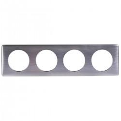 Ramka poczwórna CELIANE ANODISED aluminium