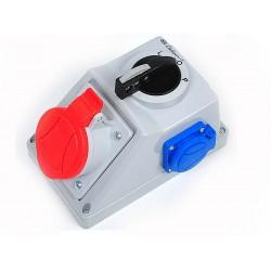 Gniazdo siłowe z wyłącznikiem L.0.P C16-48.1 +230V,