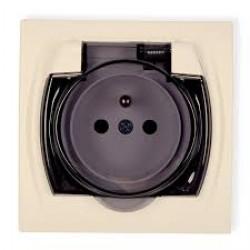 Gniazdo bryzgoszczelne 2P+Z (klapka dymna)