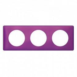 Ramka potrójna CELIANE ANODISED purpura