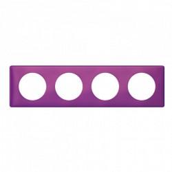 Ramka poczwórna CELIANE ANODISED purpura
