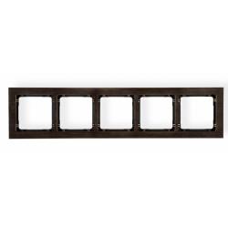 Ramka uniwersalna 5-krotna - efekt drewna (<br />Kolor wenge)
