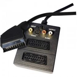 Przewód AV SCART - 2x SCART + 3x CINCH + 1x SVHS, 0,5m