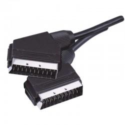 Przewód AV SCART - SCART, 1m