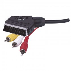 Przewód AV SCART - 3x CINCH, 1,5m