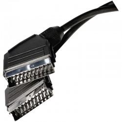 Przewód AV SCART - SCART, 2m