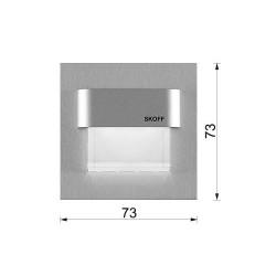 Oprawa SKOFF TANGO,szlif | barwa światła: ciepły biały | IP 20
