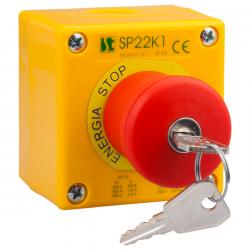 Kaseta sterownicza K1 z przyciskiem bezpieczeństwa SP22K1\BSN