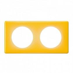 Ramka podwójna CELIANE MEMORIES żółty